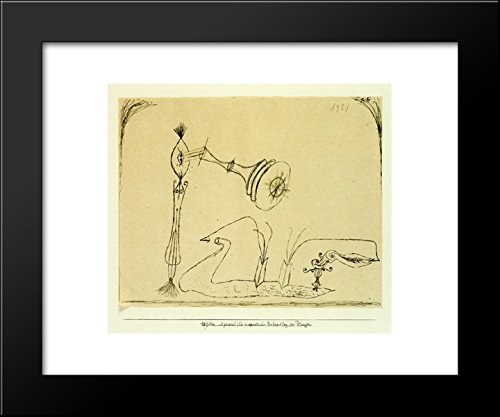 - Apparatus for the Magnetic Treatment of Plants 20x24 Framed Art Print by Paul Klee
