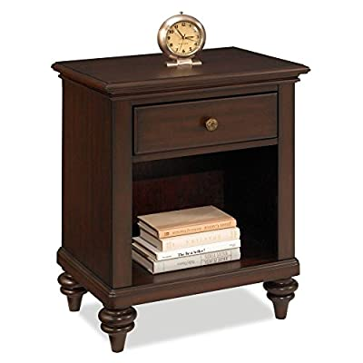 Home Styles Bermuda Nightstand - Dimensions: 22W x 16D x 28H in. Tropical island design with old world charm Choose from available finishes - bedroom-furniture, nightstands, bedroom - 41xfB0ALyaL. SS400  -