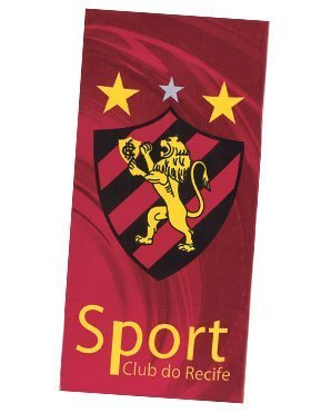 Uiowsbe Sport Club Recife 01, Brazilian Soccer Team, Velour Beach Towel, Made in Brazil by Uiowsbe