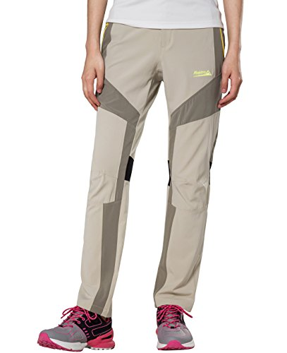 Straight Legs Quick Dry Women Pants for Climbing by Makino (Khaki XXS)