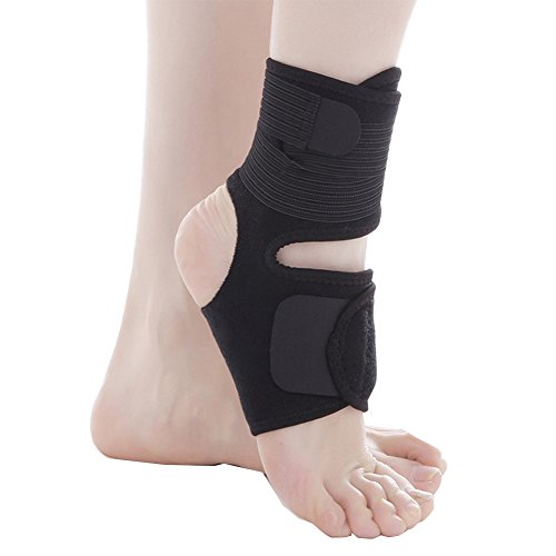 CHUANGLI Compression Band Plantar Fasciitis Socks Ankle Brace Pressure Support Elastic & Breathable Fabric Heel Arch Support