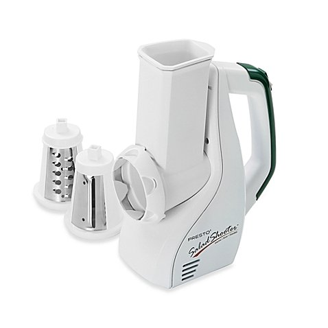 Presto 02910 UL Listed Dishwasher Safe Salad Shooter Electric Slicer/Shredder