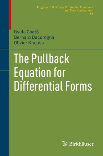 The Pullback Equation For Differential Forms  Progress In Nonlinear Differential Equations And Their Applications  Vol  83