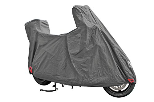 Optima Plus, motorcycle cover - L Shaped for motorcycles/scooters with windscreen and top case. Outer pvc coating with internal non-woven lining. Weld sewings. Elasticized front and rear hem. Reinf (Top Case For Motor Scooters)