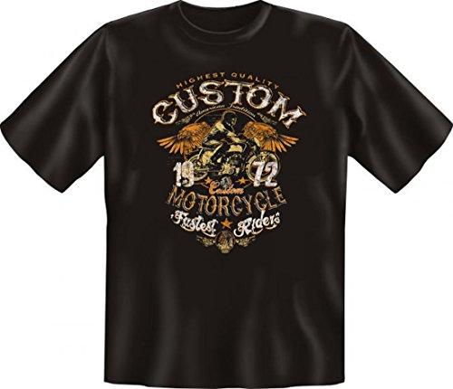 T-Shirt Motiv - Custom Motorcycle - Super Idee für echte Biker - Auch als Geschenk passend - Schwarz