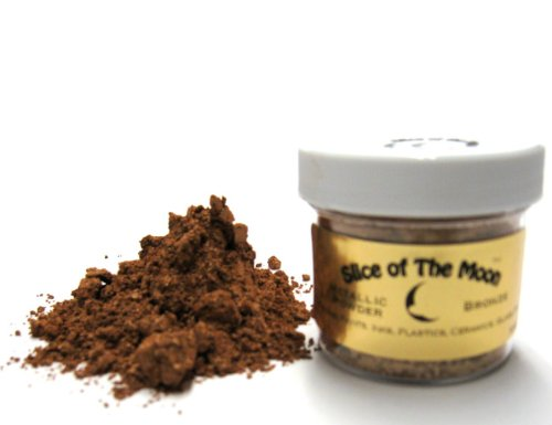 Bronze Mica Powder 1oz, Bronze Metallic Powder, Cosmetic Mica, Slice of the Moon