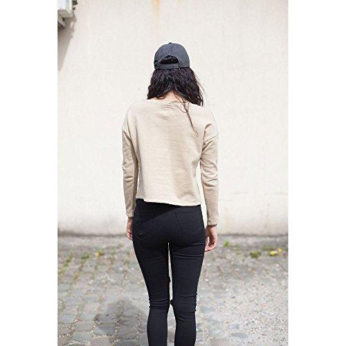 Sixth June Cropped Sweatshirt Für Damen , Beige In Gr. L bei Ital-Design