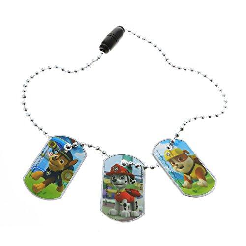 Nick Jr. Paw Patrol Boys 3pc Interchangeable Dog Tag Necklace Chain Kids Jewelry