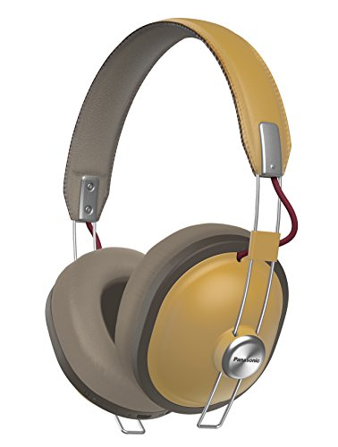 PANASONIC Wireless Retro Over-The-Ear Headphones with Bluetooth 24-Hour Playback Color Dijon (RP-HTX80B-C)