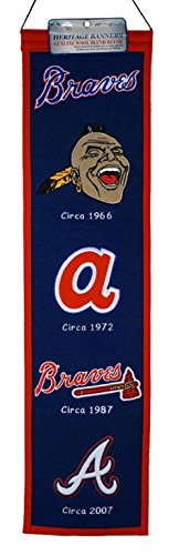 MLB Atlanta Braves Heritage Banner (Atlanta Braves Applique Banner)