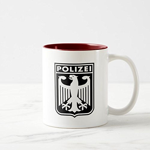Zazzle Polizei Coffee Mug, Maroon Two-Tone Mug 11 oz
