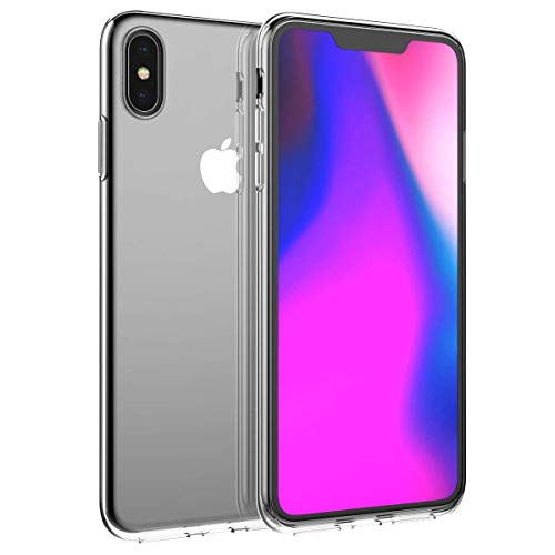 Compatible iPhone Xs Max 6.5 inch Transparent Case Cover Slim Rugged Durable Shockproof Protective Case Backcover Combo Shock Absorption Slim Back Case Protector Shell for iPhone Xs Max 6.5 inch