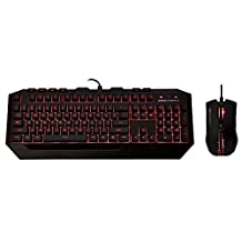 Cooler Master Devastator II LED Gaming Keyboard and Mouse Combo Bundle (SGB-3031-KKMF1-US)