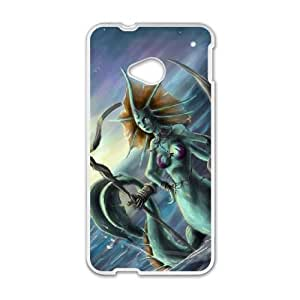 HTC One M7 Cell Phone Case White Defense Of The Ancients Dota 2 NAGA SIREN 006 LWY3567529KSL