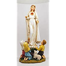 10 Inch Our Lady of Fatima with The Little Children Statue Figurine