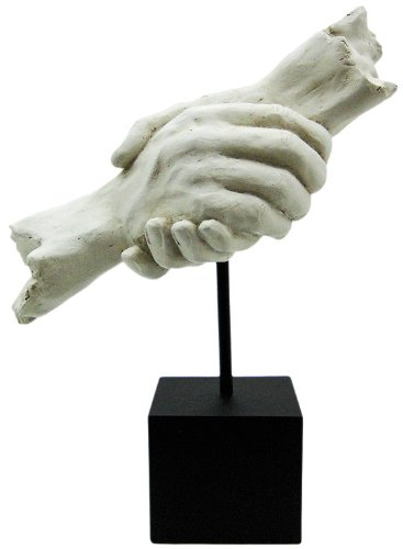 Vitruvian Collection Quot Hand Shake Quot Sculpture Art Decor