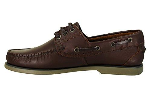 Para hombre tipo Mocasín se incluye la tabla/diseño de barca en el diseño de zapatos con by funda de piel Dek marrón