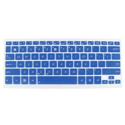 eDealMax A prueba de polvo teclado portátil Protector de la película Azul claro Para Asus UX31