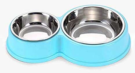 XIAOCONG Alimentador De Mascotas Doble Perro Bowl Acero ...