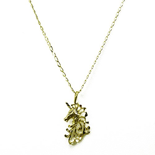 14k Yellow Gold Unicorn Pendant (w/ 16