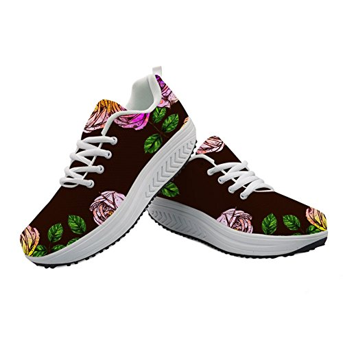 スクラップブックスイッチ彼らはCozeyat(jp) ウォーキングシューズ レディース シーソーヒール 歩きやすい かわいい 花柄