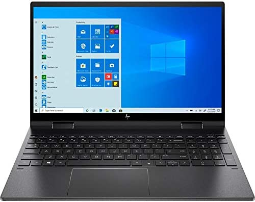 "HP Envy x360 2-in-1 Touchscreen Laptop, 15.6"" IPS FHD, Ryzen 5-4500U 6-Core as much as 4.00 GHz, 16GB RAM, 512GB SSD, USB-C/DP, HDMI 2.0, Backlit KB, Webcam, Mytrix Ethernet Hub, Win 10"