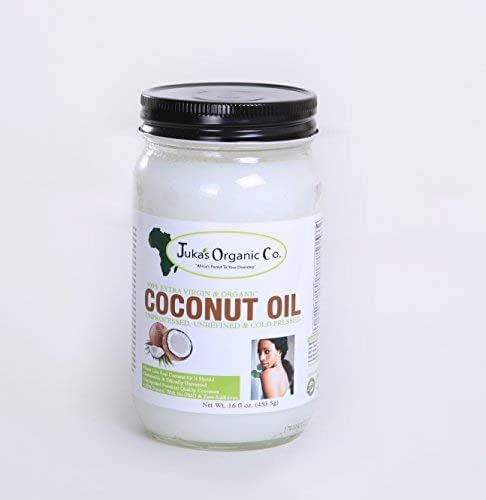 Juka's Organic Co. Coconut Oil (100% Organic, Unprocessed, Unrefined, Extra Virgin & Cold Pressed) 16.9 OZ