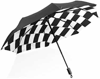c3183cf28 Umbrella Auto Open Close Art Misplacement Space 3 Folds Anti-UV Lightweight