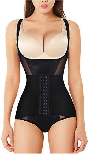 Nebility Women Waist Trainer Bodysuit Tummy Control Shapewear Slim Full Body Breathable Corset