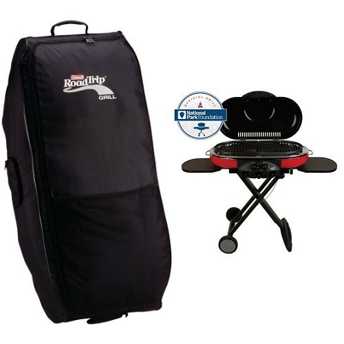 Coleman RoadTrip Wheeled Carry Case and Coleman 9949-750 Road Trip Grill LXE Bundle