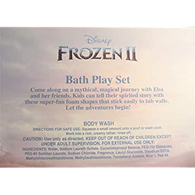 Centric Beauty Disney Frozen 2 Bath Time Play Set just Wet & Stick Body wash 9 Piece: Toys & Games