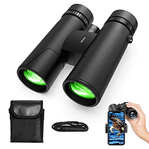 TONDOZEN 10X42 Compact Binoculars for Adults with Phone Adapter, BAK-4 Prism Night Vision Binoculars for Bird Watching, Cruise, Sports Games, Concerts, Hunting, Trip with Carrying Bag Neck Strap