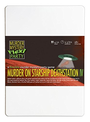 Murder on Starship Deathstation IV Remastered Murder Mystery Flexi Party 4-12 ()