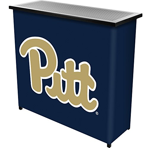 NCAA University of Pittsburgh Two Shelf Portable Bar with Case by Trademark Gameroom