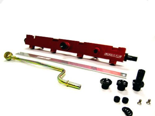OBX Red Fuel Injection Rail for 02-06 Acura RSX ALL
