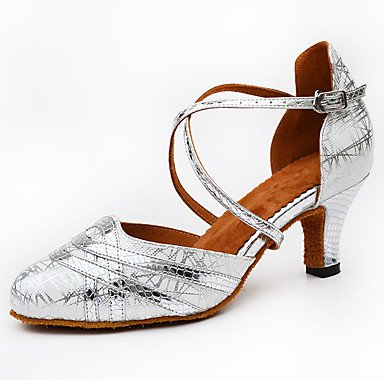 Personalizables Carrete Oro Negro de Plata Latino Black Zapatos Tacón baile xSApqRUn
