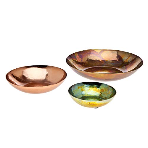 Godinger Metalic Bowl, Decorative Plate Set of Three - Copper