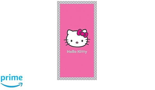 Hello Kitty - Toalla de Playa o de Baño (Salsa, 75 x 150 cm, 100% Algodón: Amazon.es: Hogar