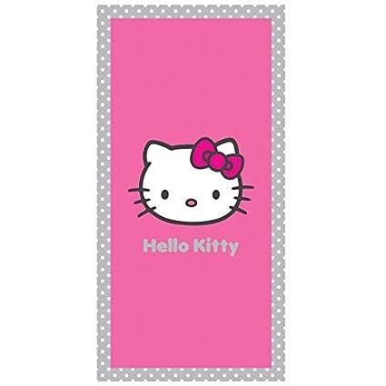 Hello Kitty – Toalla de Playa o de Baño (Salsa, 75 x 150 cm