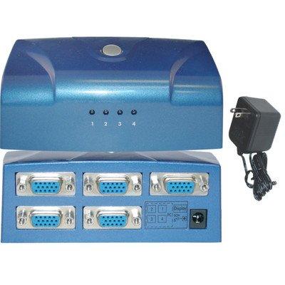 電子VGAスイッチボックス、ブルー、4 1にPCモニタ、VGA / hd15 ( 1パック) by NETCNA B072N5RY7B
