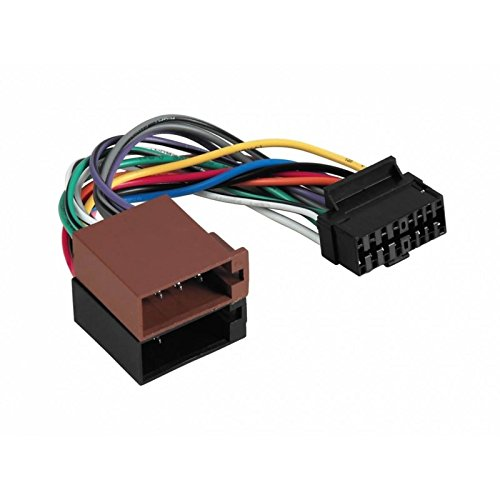 41xfJ7pUXIL cable car radio iso adapter for aiwa 16 pin connector amazon co aiwa cdc-x227 wiring harness at mifinder.co