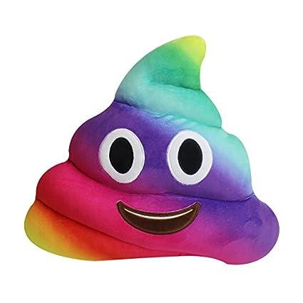 Rameng Multicolore Caca Poop Rainbow Caca Emoji Peluche Oreiller