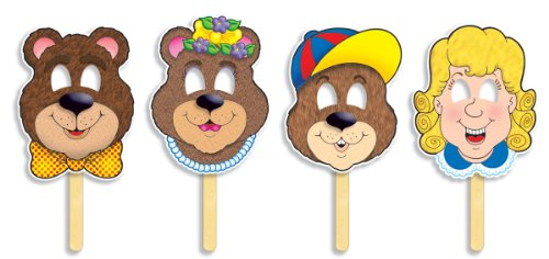 Fairytale Masks (Scholastic TF1276 Goldilocks and the Three Bears Fairy Tale Masks with Easy-to-Read Play!)