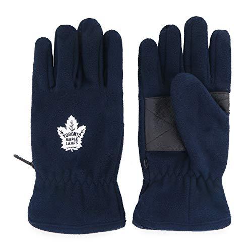 OTS NHL Toronto Maple Leafs Male Fleece Gloves, Navy, Men's