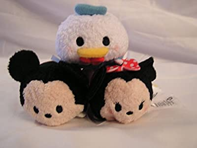 Mickey Mouse Minnie Mouse & Donald Duck Tsum Tsum Plus Mini 3Pack