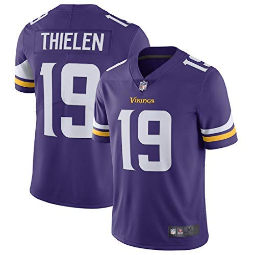 Outerstuff Men's Adam Thielen Minnesota Vikings Stitched Player Name & Number Football Jersey - Purple XL