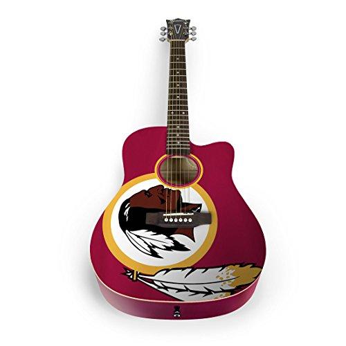 NFL Washington Redskins Nflacoustic Guitar- Washington Redskins, Burgundy, One Size by sportsvault