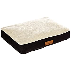 Ellie-Bo Dog Bed with Faux Suede and Sheepskin Topping for Dog Cage/Crate Medium 30-inch 6