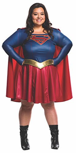 Super Plus Size Costumes (Rubie's Women's Supergirl TV Plus Size Costume, Multi)