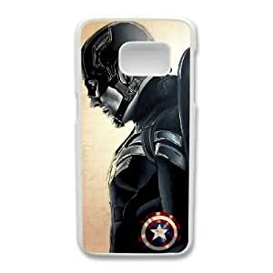 Generic Fashion Hard Back Case Cover Fit for Samsung Galaxy S7 Cell Phone Case white Captain America Steven with Free Tempered Glass Screen Protector PKL-6022785